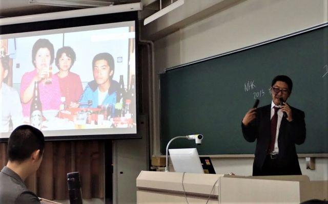 今年9月には、愛知大学で講演しました=石井さん提供