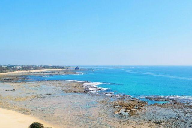 奄美大島の青い海と空
