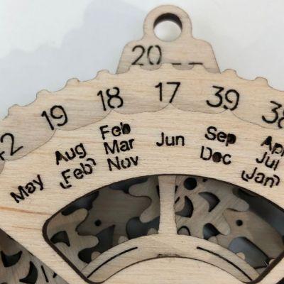 上部に刻まれた西暦の下2ケタをその下の月に合わせると……
