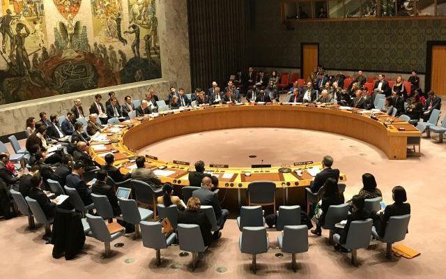 国連安全保障理事会の公式会合=2017年12月撮影