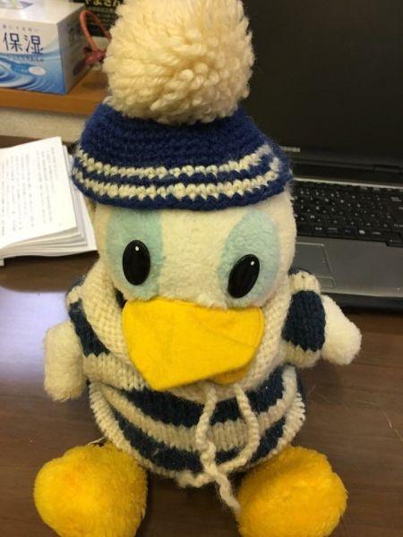 こちらが1着目の手編みの衣装