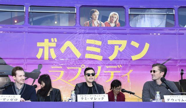 公開前に来日した際の記者会見の様子=東京都港区