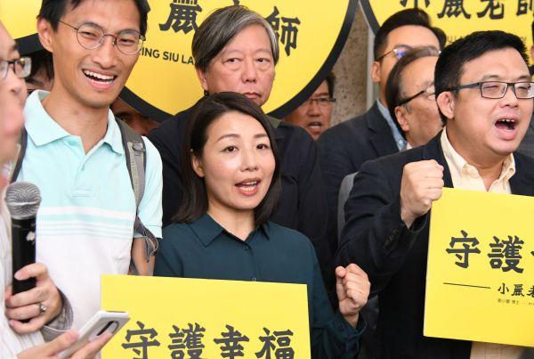 香港立法会補欠選挙に立候補できなかった民主派の劉小麗さん=2018年10月2日、香港、益満雄一郎撮影