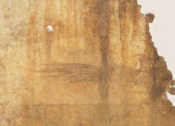デザインのモチーフになったキトラ古墳の朱雀=文化庁提供
