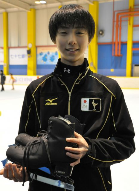 2010年4月 15歳当時の羽生選手のインタビューをした。宮城県仙台市泉区のアイスリンク仙台にて