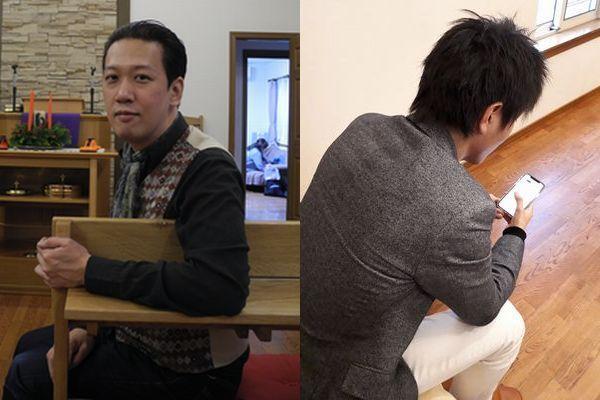 まじめ担当の横坂剛比古さん(左)とふざけ担当の渡辺さん