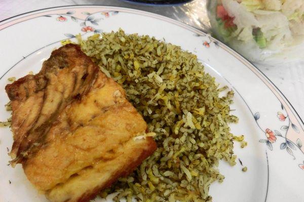 白身魚と香草のピラフ