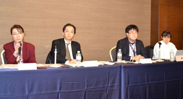 第三者委員会の報告会に出席した理事たち=渋谷区、高野真吾撮影