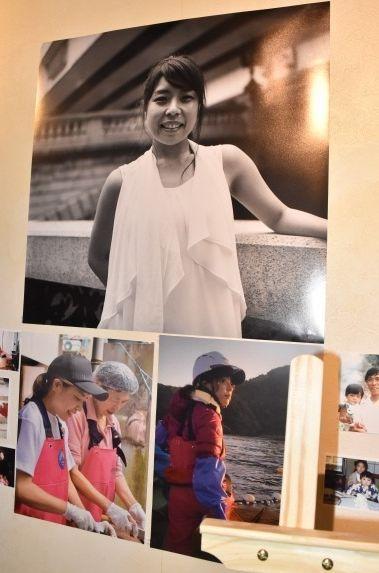 お別れ会の会場では、田中優未さんの在りし日の写真が飾られた