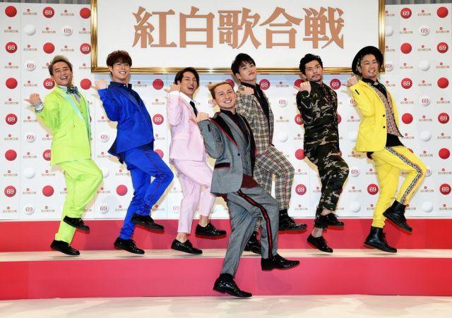 16年ぶり6回目の出場が決まった「DA PUMP」=2018年11月14日午後、東京都渋谷区、山本壮一郎撮影