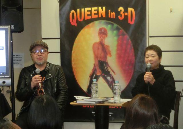 「ミュージック・ライフ」の元編集長の2人。右が、東郷かおる子さん、左が増田勇一さん。