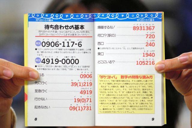 数字の語呂合わせ「ポケベルコトバ」をまとめた「ポケベル暗号BOOK」