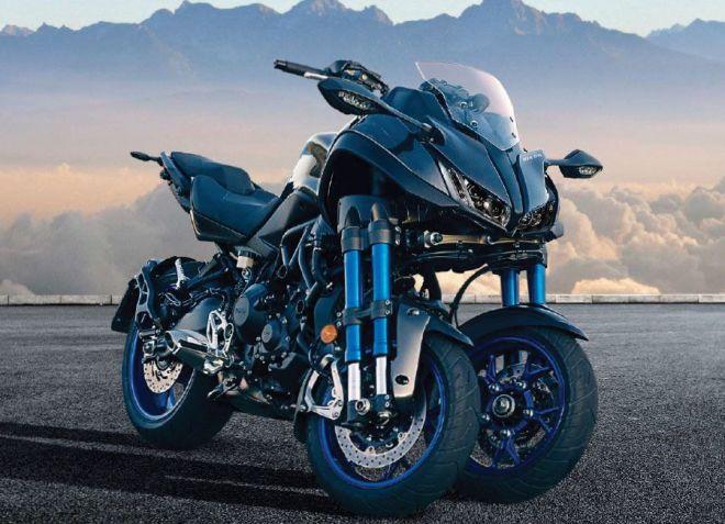 前輪が2つある大型バイク「NIKEN」