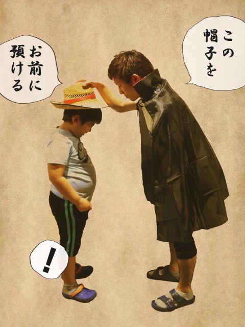 「熊本県庁の一味」のツイッターに投稿されたシャンクスとルフィ
