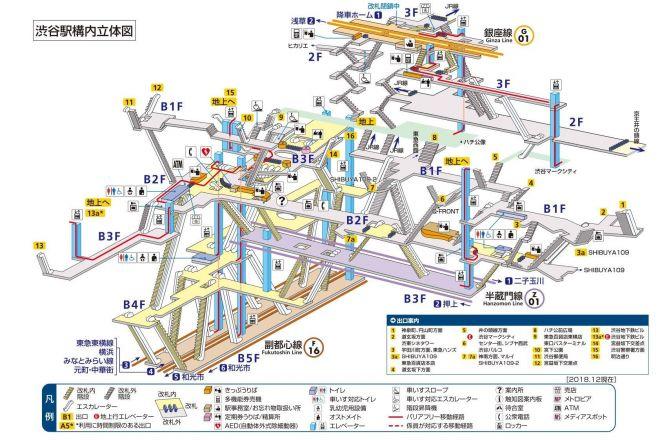 「迷路」とのツイートが絶えない渋谷駅