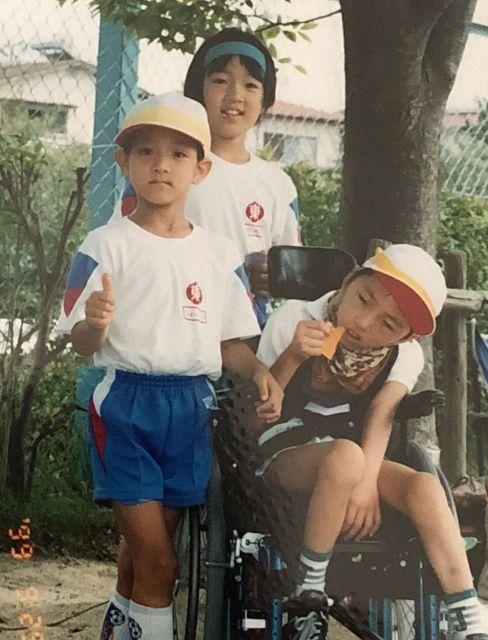 暖人さんの誕生日に、近所の小学校の運動会に、交流で参加した時に撮影した写真=1999年9月25日