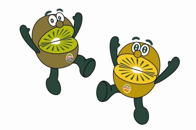 こちらが「キウイ・ブラザーズ」。緑は「グリーン」、黄色は「ゴールド」という兄弟です