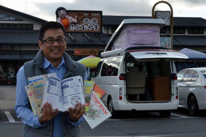 訪れた道の駅は1000カ所以上の浅井佑一さん。達人としてテレビ、ラジオでも活躍中
