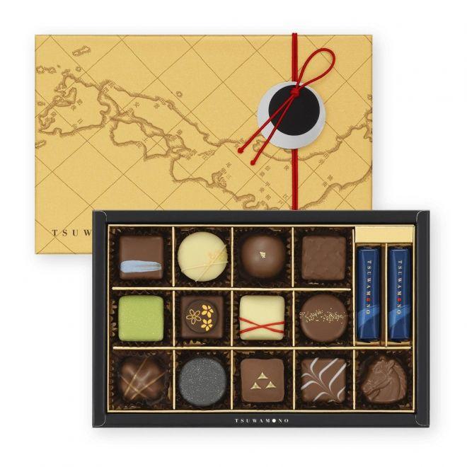 武将12人をイメージしたチョコレート詰め合わせ「つわもの揃い」(税込み2160円)