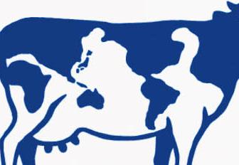 牛の模様が世界地図になっています