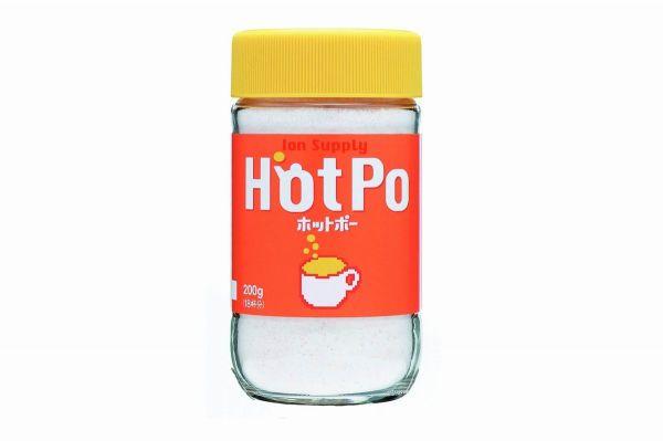 これが「ホットポー」。中の粉末をお湯に溶かして飲みます。パッケージを見たら思い出したという人もけっこういました