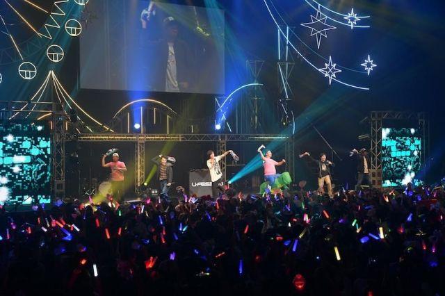 「U-FES.2018」でのフィッシャーズのライブステージ=UUUM提供