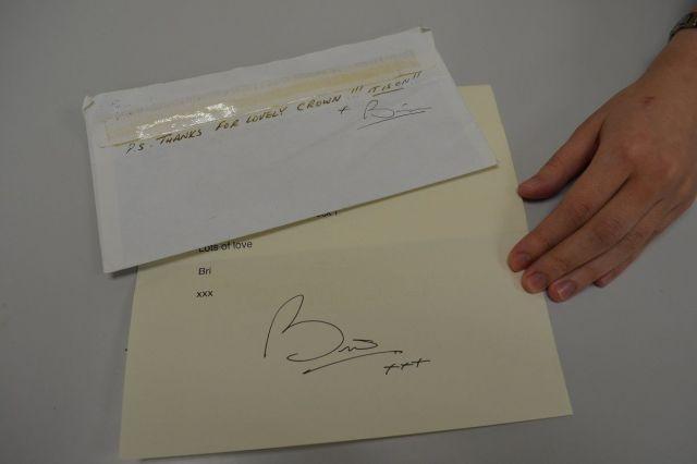 末石さんのお宝は、ブライアン・メイから届いた手紙