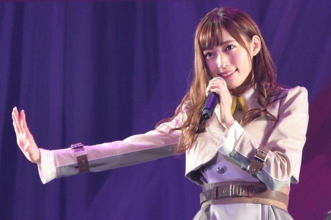 アイドルグループNGT48のメンバー山口真帆さん=昨年9月、日本武道館