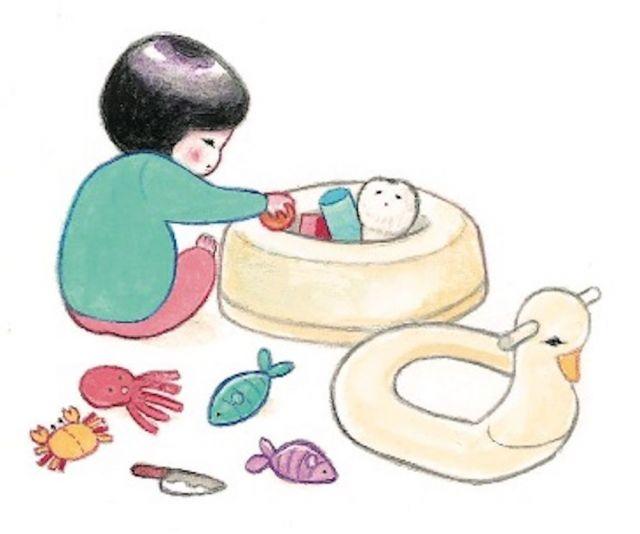 おまるにおもちゃを収納する=minchiさん提供