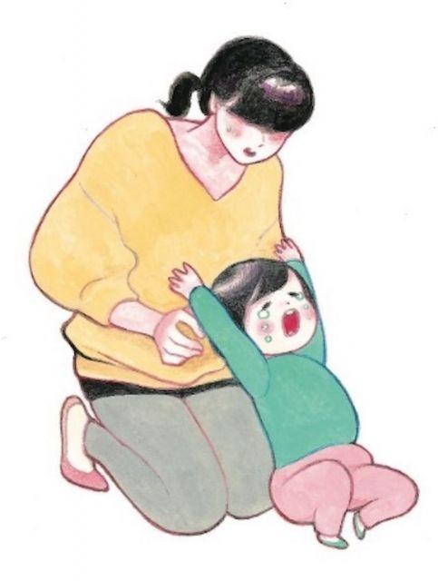 だっこされたくないポーズ=minchiさん提供