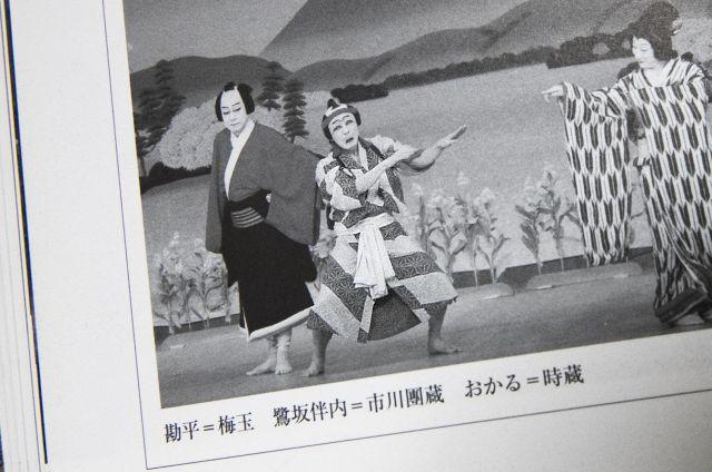歌舞伎の本に紹介されている伴内=2月2日