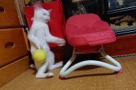 「#猫の写真へたくそ選手権」で桜Continues(@panstarrsison)さんが投稿した画像は10万を超えるお気に入り、3万以上のリツイートとなった。「猫の日」を楽しむユーザーからのコメントに、投稿主が丁寧に返事をするやりとりが見られた=桜Continues(@panstarrsison)さん提供