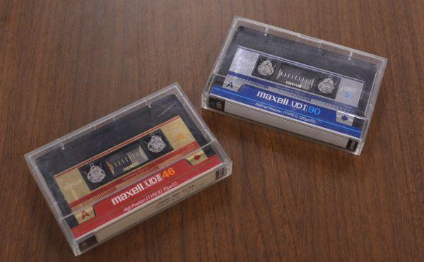 1976年に発売されたマクセルのカセットテープ「UD1」「UD2」