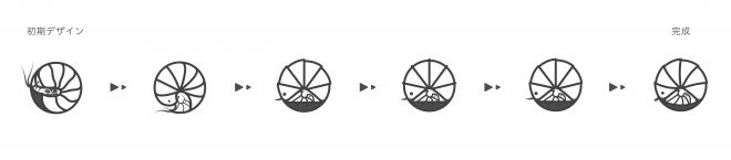ダンゴムシの洒落紋が完成するまでのデザインの変遷