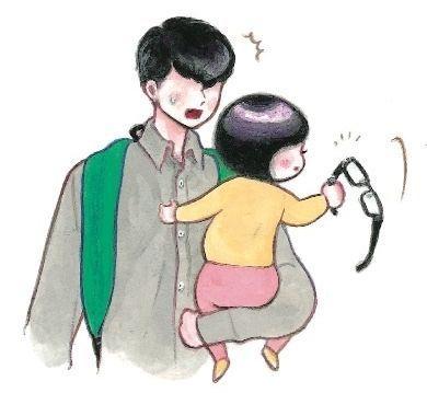 めがねをこわす=minchiさん提供