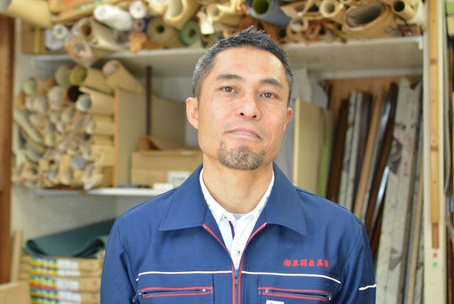 黒羽表具店を経営する黒羽雄二さん