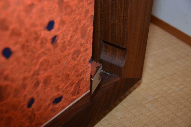 家具の取っ手の部分には「塵落とし」と呼ばれる細工が施されている
