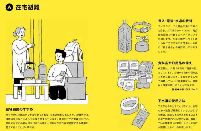 東京防災では「可能なかぎり在宅避難できる準備を整えておくことが大切」としている