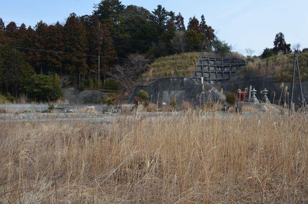 震災から8年。津波や地震で被害を受けた家々の多くは取り壊された=福島県双葉町両竹