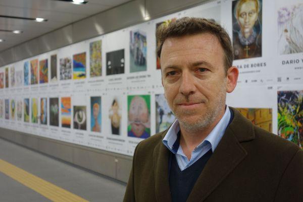 展示会を主催した美術品PR会社のナタル・バルベさん(42)
