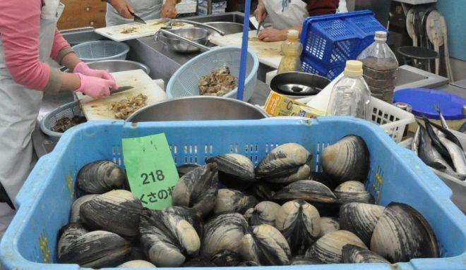 「うにとほっき貝の炊き込みご飯の素」に使われるホッキ貝