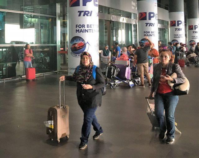 フォンは事件2日後、空港ターミナル2階にいたところを逮捕された=乗京真知撮影