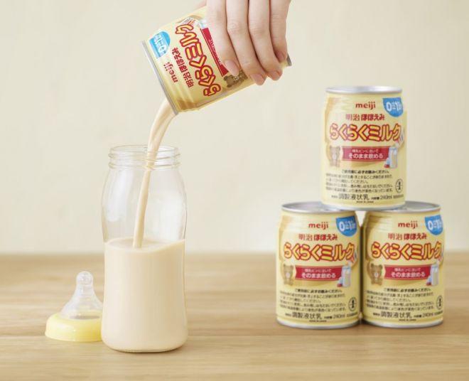 明治の液体ミルク「明治ほほえみ らくらくミルク」