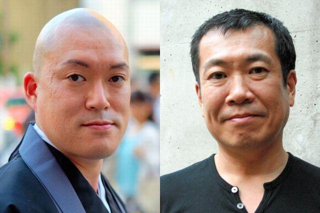 オウム真理教について語り合ったジャーナリストの佐々木俊尚さん(右)と僧侶の井上広法さん
