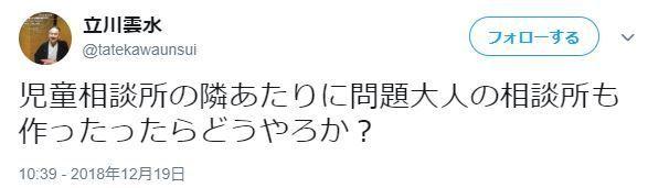 立川雲水さんのツイート