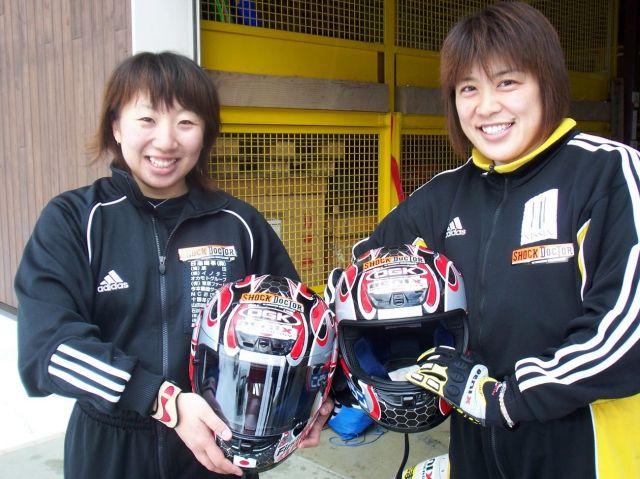 2005年の長野合宿にて。長岡さん(右)と桧野さん(左)=長岡さん提供