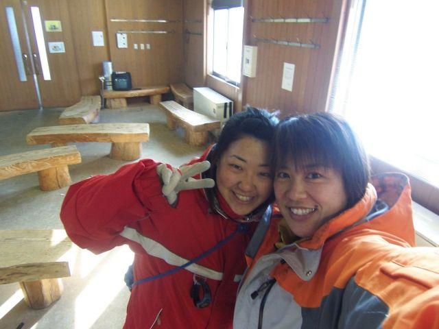 長岡さん(右)とコーチの白谷さん=長岡さん提供
