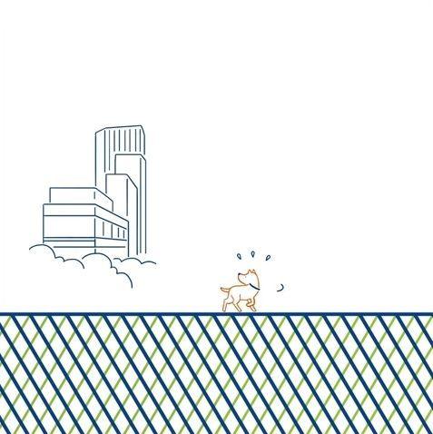 宮下公園の工事の仮囲いに描かれている「A day in the life shibuya」