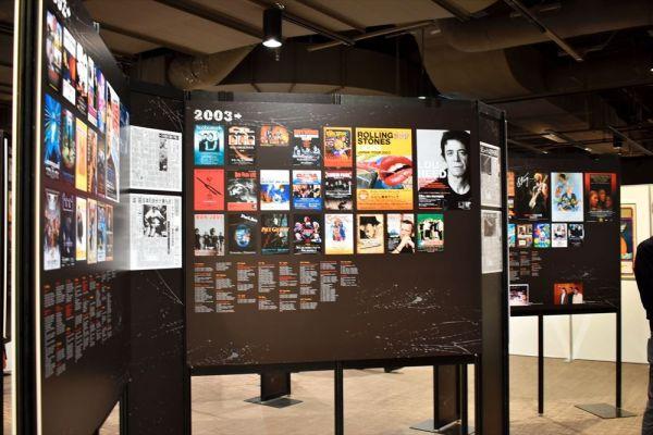 2000年代に行われた来日公演のポスター=2019年3月7日、東京・有楽町