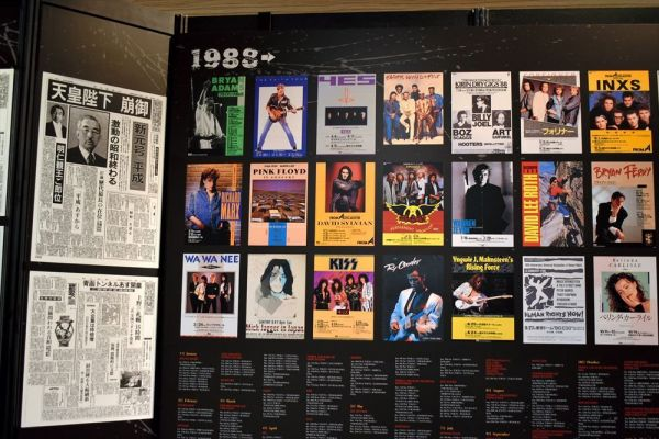 1988年に行われた来日公演のポスター=2019年3月7日、東京・有楽町